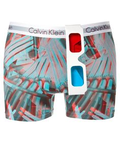 3D underwear by Calvin Klein. (comes with 3D glasses)