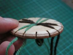 Idea for future tools to make/sell: Wooden kumihimo disc/braiding loom from whole tree slices. (This tutorial is just for making one from plywood, but a starting place).
