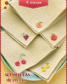 Servilletas de frutas #Singer #yolohice #servilletas #frutas