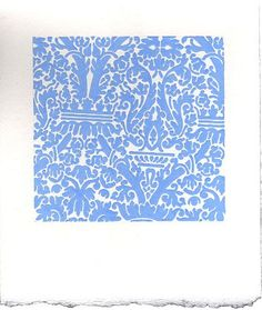 Sara Eichner-'blue interior wallpaper'-Sears-Peyton Gallery
