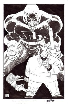 Daredevil and Kingpin by John Romita, Jr. (Marvel)