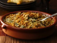 Green Bean Casserole with Portabella Mushroom Sauce - Progresso® bread crumbs provide a simple addition to this delicious casserole that's made using Progresso™ Recipe Starters™ mushroom cooking sauce and Green Giant® beans – a wonderful side dish!