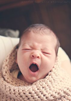 Because baby yawns are magical.