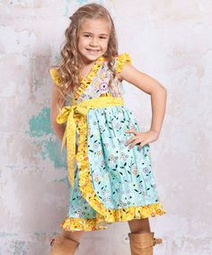 Take a look at this Blue & Yellow Bees Misha Dress - Infant, Toddler & Girls by Jelly the Pug on #zulily today!