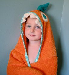 Cute handmade hooded bath towel for the little ones