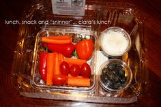 "Lunch, Snack and ""Sninner"": another field trip lunch in recycled disposables"