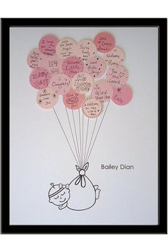 Baby Shower To-Do - have baby shower guests sign a message, then create adorable art that can be displayed in the nursery!