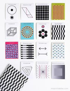 Free optical illusion printable lunch box notes for back to school. Love this so much.
