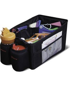 Organize books, toys, sippy cups, and other odds and ends in this cargo bin so they don't clutter up your car. Click above to buy one.