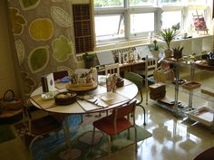 "Photos of lovely areas in the classroom from The Curious Kindergarten ("",)"