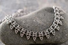 Warrior Princess chainmaille collar necklace от TralalaLTD на Etsy