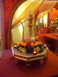 Indian wedding centerpiece