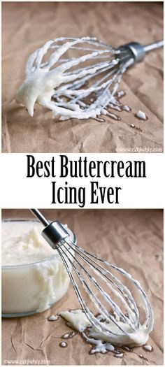 The BEST BUTTERCREAM ICING ever! Smooth, creamy and just melts in your mouth. There are also recipe variations for peppermint, rose and coconut flavored buttercreams! From cakewhiz.com