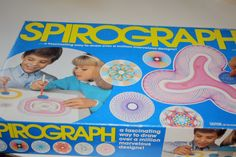 Spirograph Games By Kenner Toy 1970's crafty artist game. $24.00, via Etsy.