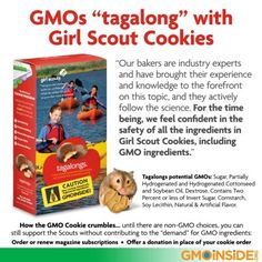 If you've got a cookie craving but dont want to eat GMOs, here is our Homemade, Non-GMO, Organic Tagalong cookie recipe: http://gmoinside.org/recipe-non-gmo-organic-tagalongs