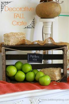 Using a few things you probably have in your garage, you can make this really cute rustic crate. Tutorial for taking a bare crate and staining it and adding fun pops of texture and color! #crates #fallideas