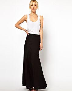 ASOS Maxi Skirt in Linen
