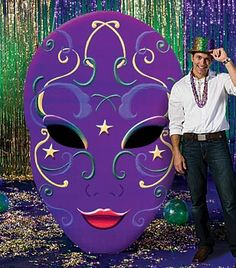 Mardi Gras Ball Oval Mask Standee
