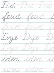 Donna Young's Cursive Handwriting Practice
