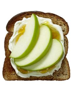 apples and cream cheese toast
