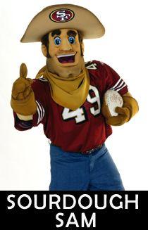 Sourdough Sam - 49ers Mascot