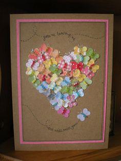 Butterflies (heart punch & beads)