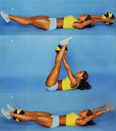 No gym ab exercise with medicine ball (of any weight).