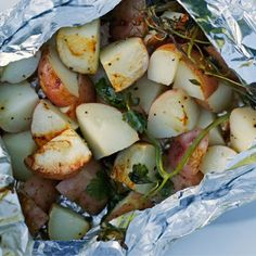 Herbed Red Potatoes on the Grill
