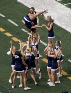 CHEER BYU Cheerleaders college cheerleading stunt routine football field game day #KyFun m.10.50 moved from @Kythoni Cheerleading: Utah Schools board http://www.pinterest.com/kythoni/cheerleading-utah-schools-byu-utah-uvu-weber-usu-a/