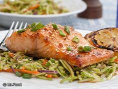 Brown Sugar-Glazed Salmon - We've added a sweet edge to this salmon dinner recipe to give it an extra special touch—just like you might find at an authentic seafood restaurant!