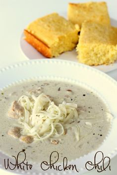 White Chicken Chili - must keep this recipe for later!! #soup