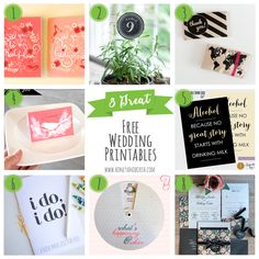 8 Great #Free Wedding Printables - Honey & Birch