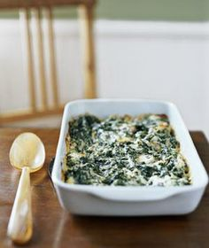 Creamed Spinach Gratin recipe