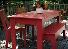 Red Outdoor Furniture.