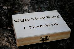 With this ring I thee wed ring bearer box
