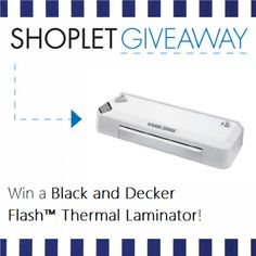 Win a Black and Decker Flash Thermal Laminator! Repin, then go to our blog and leave us a comment about why you're so super excited for the holidays :) Good luck!
