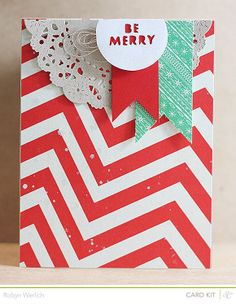 Be Merry Card by RobynRW at @Studio_Calico using the December Kits, Blue Note #studiocalico