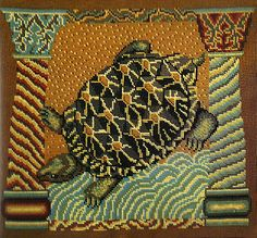Needlepoint turtle by Kaffe Fassett.