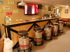 Top Man Cave Project of 2012: Keg Bar Stools >> http://www.diynetwork.com/home/most-pinned-of-2012-from-diy-networks-pinterest-board/pictures/index.html?soc=pinterest#