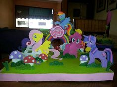 centro de mesa my little pony