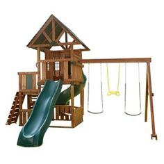 Little Girls Playhouses & Swingsets on Pinterest | Play Sets, Plays a ...