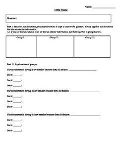 dbq essay structure