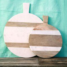 Terrain Marble & Wood Serving Board #shopterrain