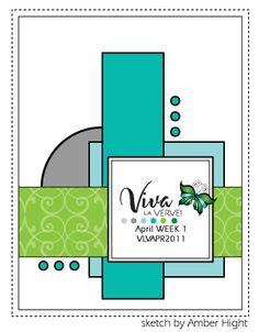 Verve April 2011 Week 1 card sketch. #cards #card_making #sketches #crafts