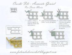 Falando de Crochet - Gráficos: CROCHE FILE - AUMENTO GENIAL