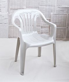 Plastic chairs on pinterest patio furniture makeover recover patio