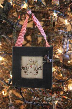 primit gingerbread, christmaswint decor, craft idea, handmad ornament, handmade ornaments, christma ornament, christmas ornaments, primitive, gingerbread christma