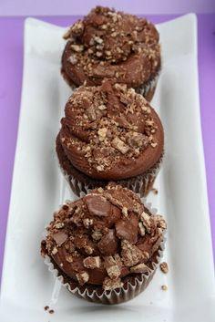 Kit Kat Mocha Cupcakes