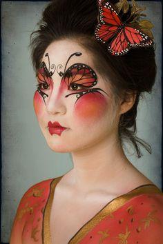 Geisha, asian flare makeup