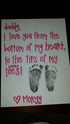 Sending to daddy on deployment!